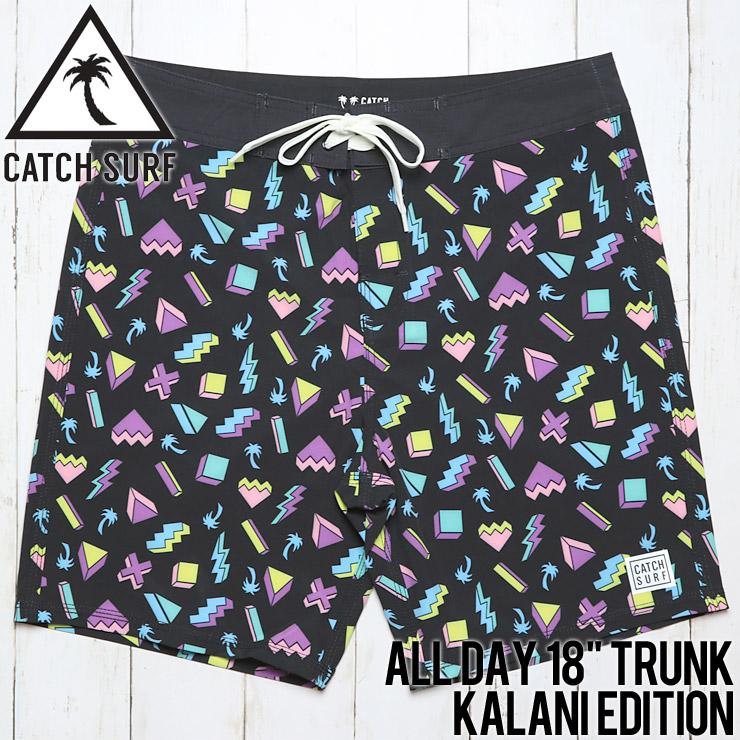 """[クリックポスト対応] CATCH SURF キャッチサーフ ALL DAY 18"""" TRUNK KALANI EDITION BOARD SHORT ボードショーツ A8TRK005"""