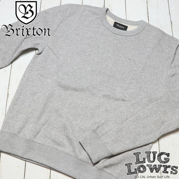 BRIXTON ブリクストン B-SHIELD CREW スウェットトレーナー 02487 HTGRY