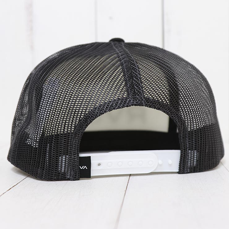 RVCA ルーカ RVCA FOAMY TRUCKER HAT メッシュキャップ MAHW1RFT BLACK/WHITE