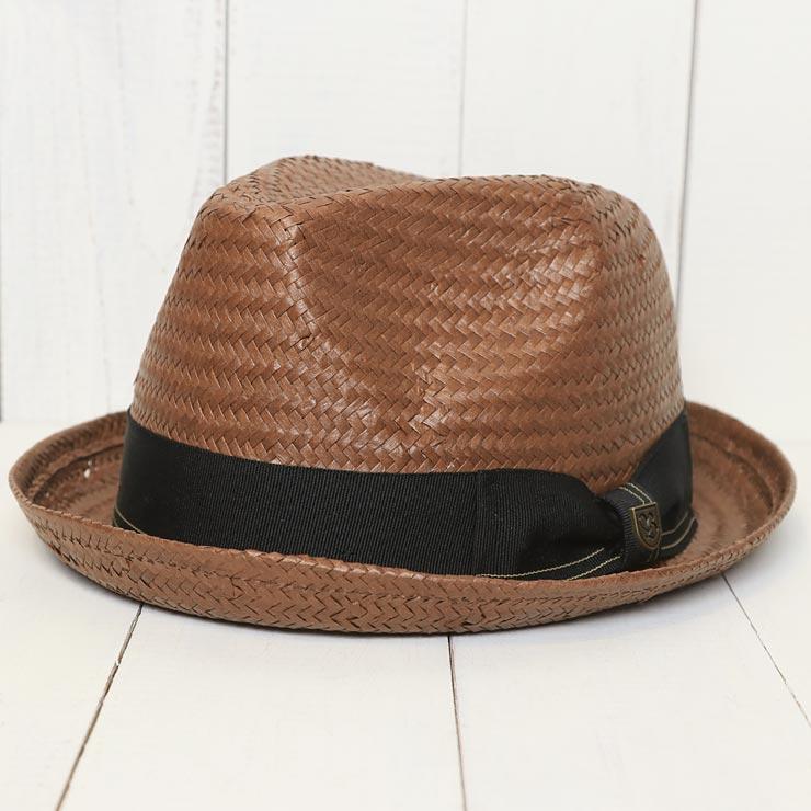 【送料無料】 BRIXTON ブリクストン CASTOR FEDORA HAT ストローハット フェドラハット 麦わら帽子 00002 BRB [FB]