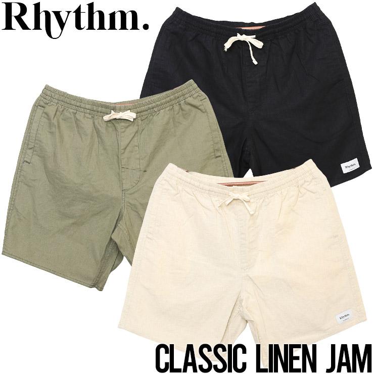 [クリックポスト対応] Rhythm リズム CLASSIC LINEN JAM ショーツ ハーフパンツ CL21M-JA11