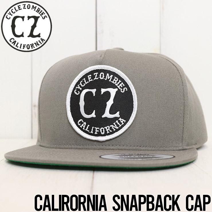 【送料無料】 Cycle Zombies サイクルゾンビーズ CALIRORNIA SNAPBACK CAP スナップバックキャップ CZ-PTHT-001 GRY