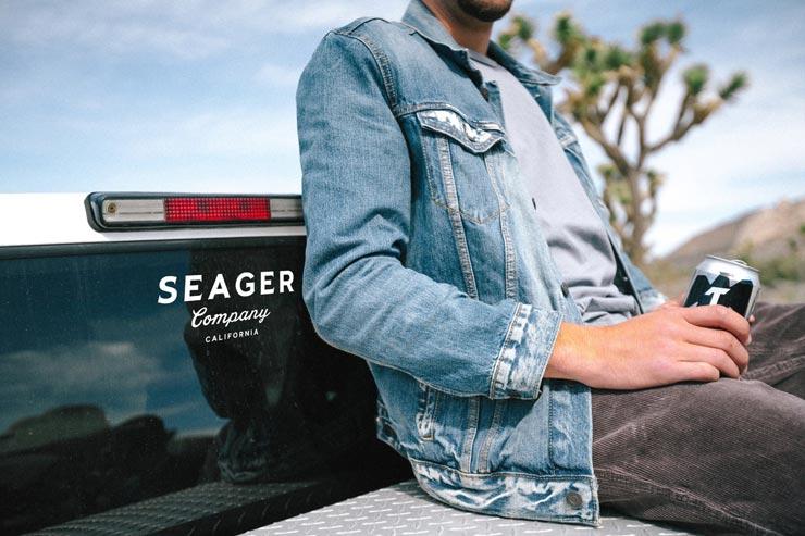 [クリックポスト対応] SEAGER シーガー SEAGER DECAL カッティングステッカー