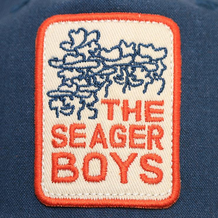 【送料無料】SEAGER シーガー THE SEAGER BOYS SNAPBACK スナップバックキャップ NAVY