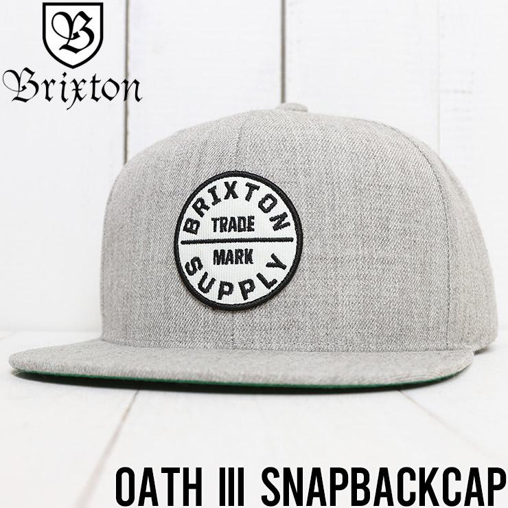【送料無料】 BRIXTON ブリクストン OATH III SNAPBACKCAP スナップバックキャップ 00173 LHTGY