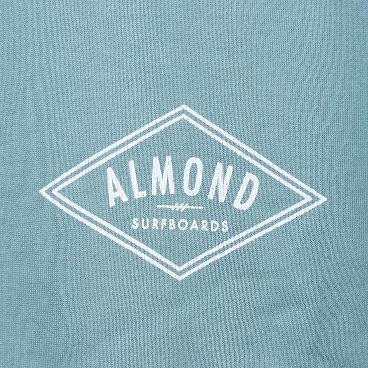 ALMOND SURF アーモンドサーフ DECADES PULLOVER クルーネックトレーナー GREEN
