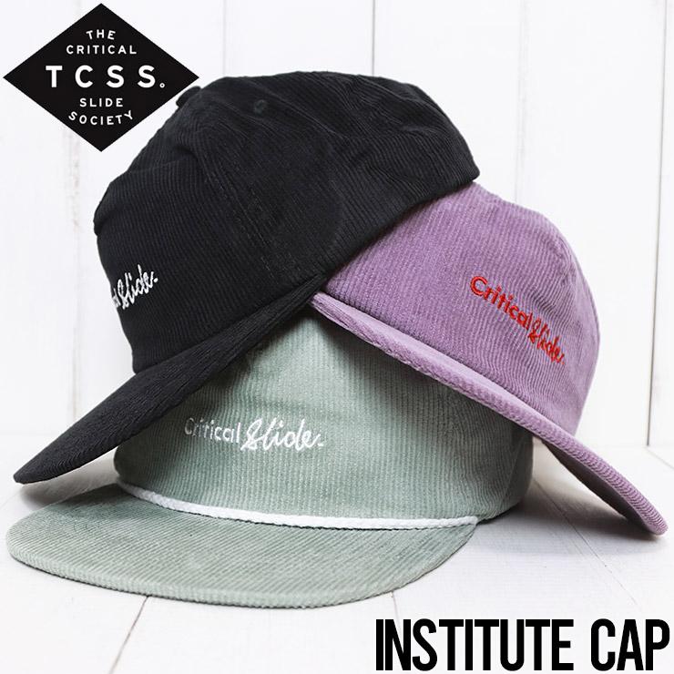 【送料無料】 TCSS ティーシーエスエス INSTITUTE CAP コーデュロイキャップ スナップバックキャップ HW2001