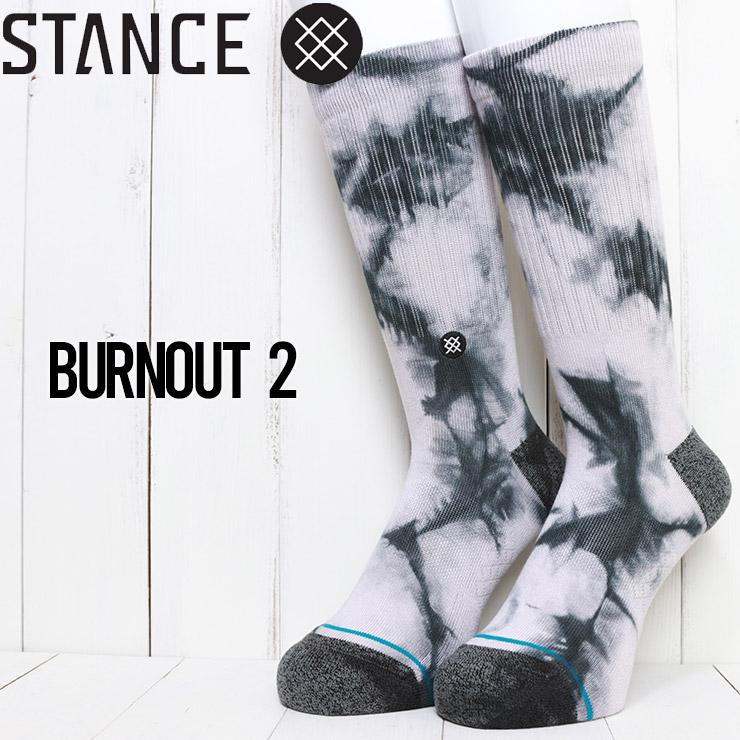 [クリックポスト対応] STANCE スタンス BURNOUT 2 SOCKS ソックス 靴下 M556D20BUR