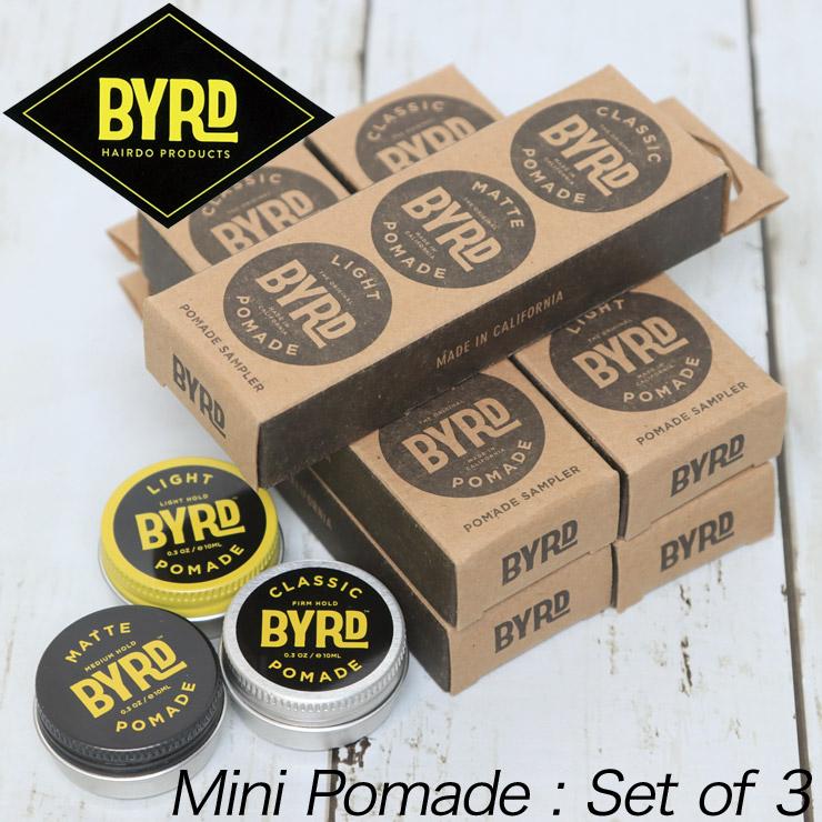 [クリッックポスト対応] BYRD バード The POMADE SAMPLER ミニポマード 3個セット