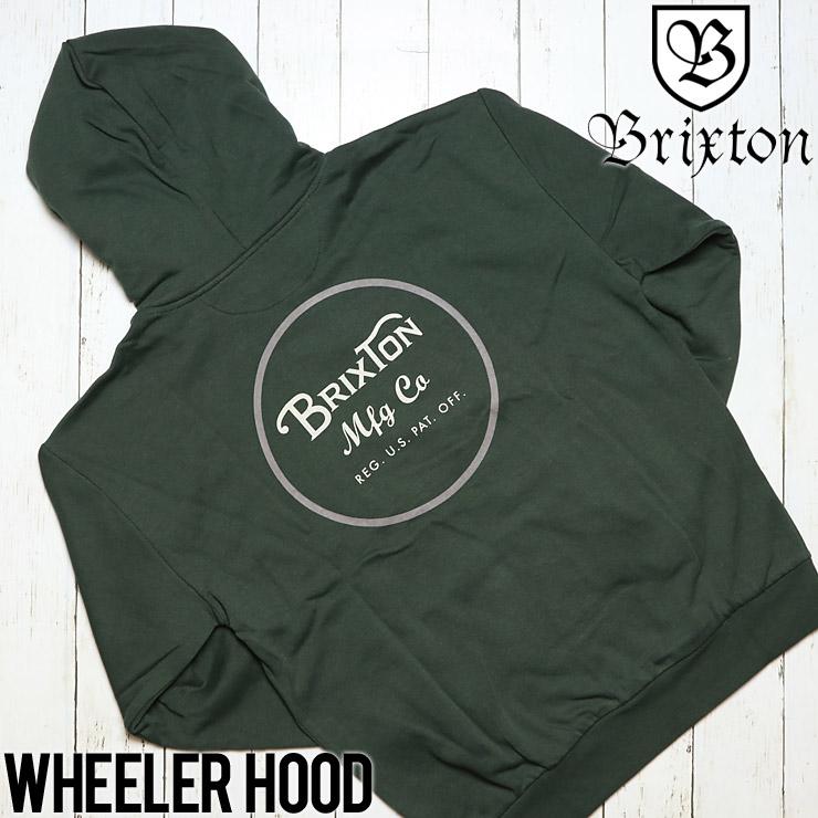 BRIXTON ブリクストン WHEELER HOOD プルオーバーパーカー 02416 PINE