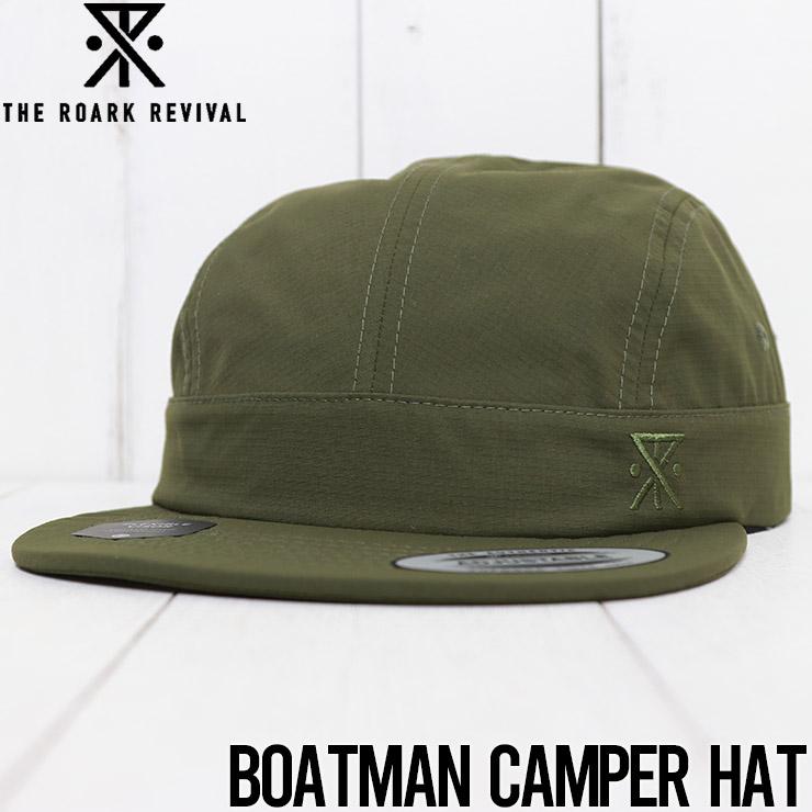 【送料無料】 THE ROARK REVIVAL ロアークリバイバル BOATMAN CAMPER HAT ストラップバックキャップ RH355