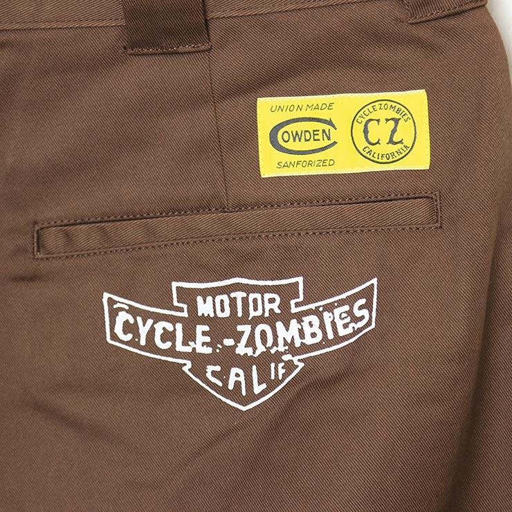 [クリックポスト対応] Cycle Zombies サイクルゾンビーズ Cycle Zombies x COWDEN KILLS RATS REGULAR WORK PANTS チノパン ストレッチパンツ