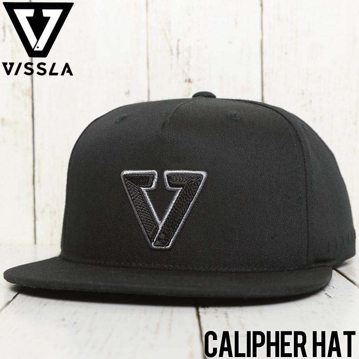 【送料無料】 VISSLA ヴィスラ CALIPHER HAT SNAPBACK CAP スナップバックキャップ MAHTKCAL BLK