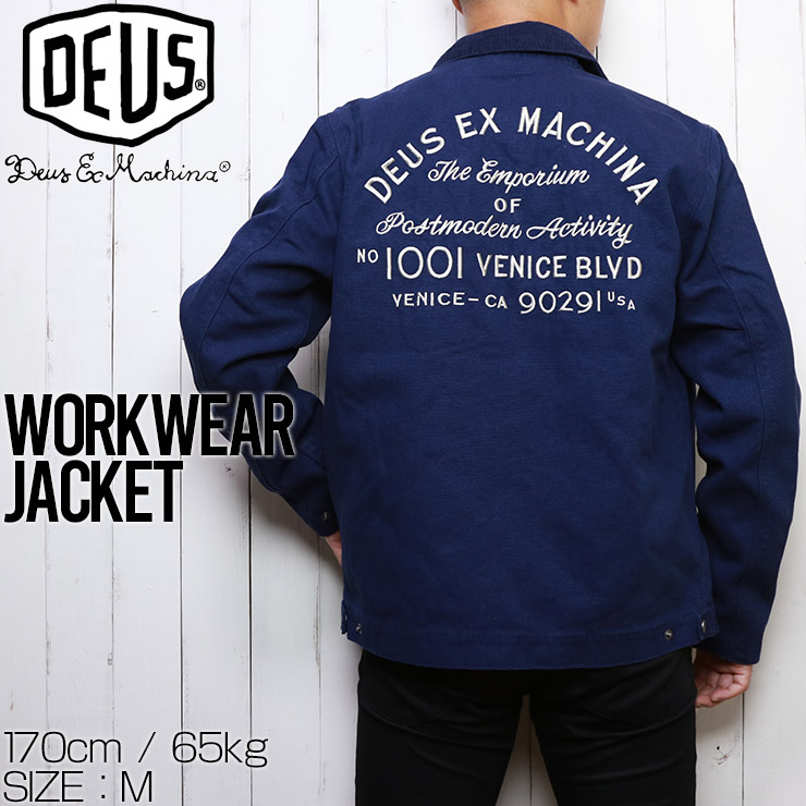 【送料無料】 Deus Ex Machina デウスエクスマキナ WORKWEAR JACKET ワークウェアジャケット DMP206403