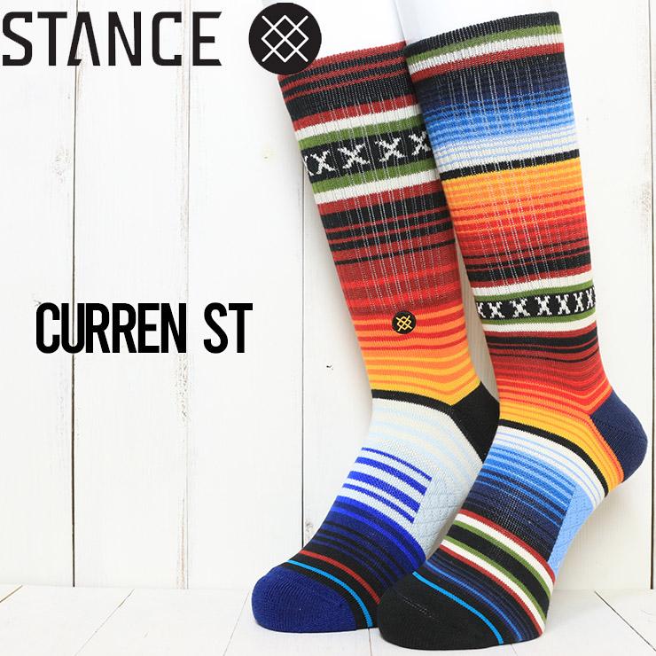 [クリックポスト対応] STANCE スタンス CURREN ST CREW SOCKS ソックス 靴下 A556A20CHS