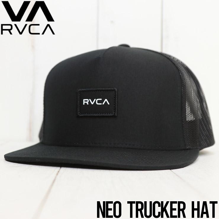 【送料無料】 RVCA ルーカ NEO TRUCKER HAT メッシュキャップ MAHW1RNT BLK