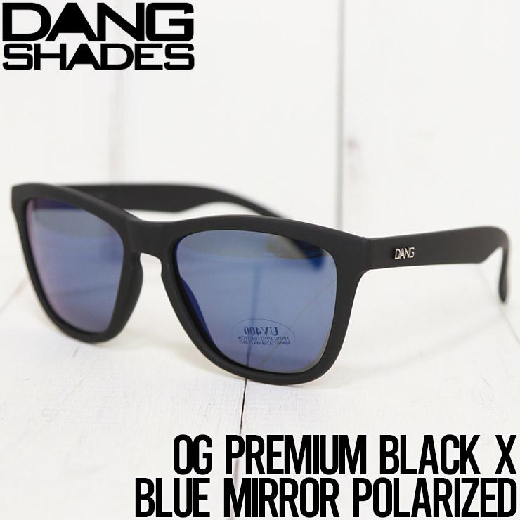 [クリックポスト対応] DANG SHADES ダンシェイディーズ OG PREMIUM BLACK X BLUE MIRROR POLARIZED 偏光サングラス