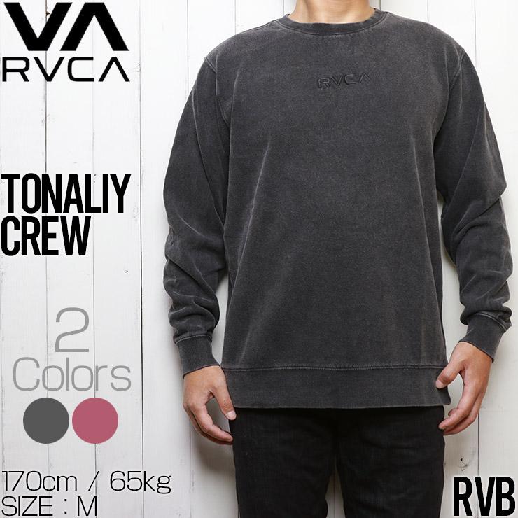 RVCA ルーカ TONALLY CREW スウェット クルートレーナー M6273RTO