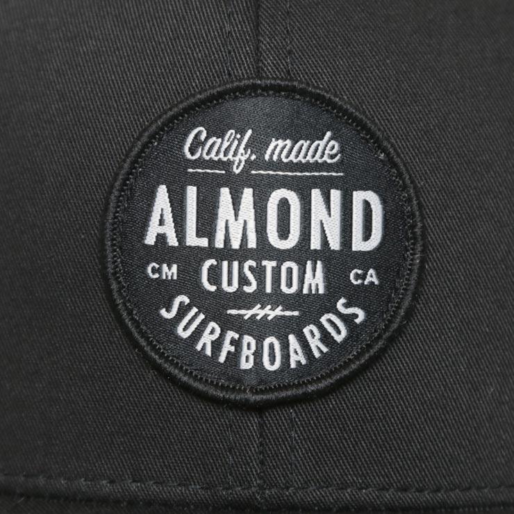 ALMOND アーモンド BLACK ALMOND TRUCKER HAT メッシュキャップ