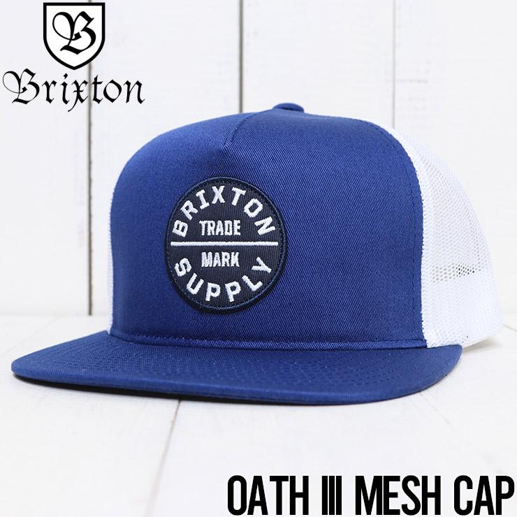 【送料無料】 BRIXTON ブリクストン BRIXTON OATH III MESH CAP メッシュキャップ 00958 RIBLU
