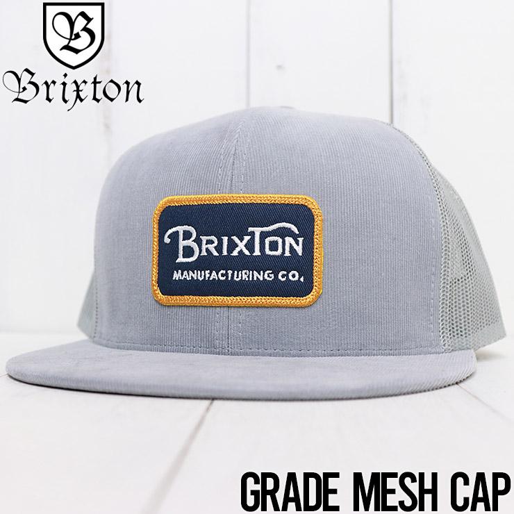 【送料無料】 BRIXTON ブリクストン GRADE MESH CAP メッシュキャップ 10781 SILVR
