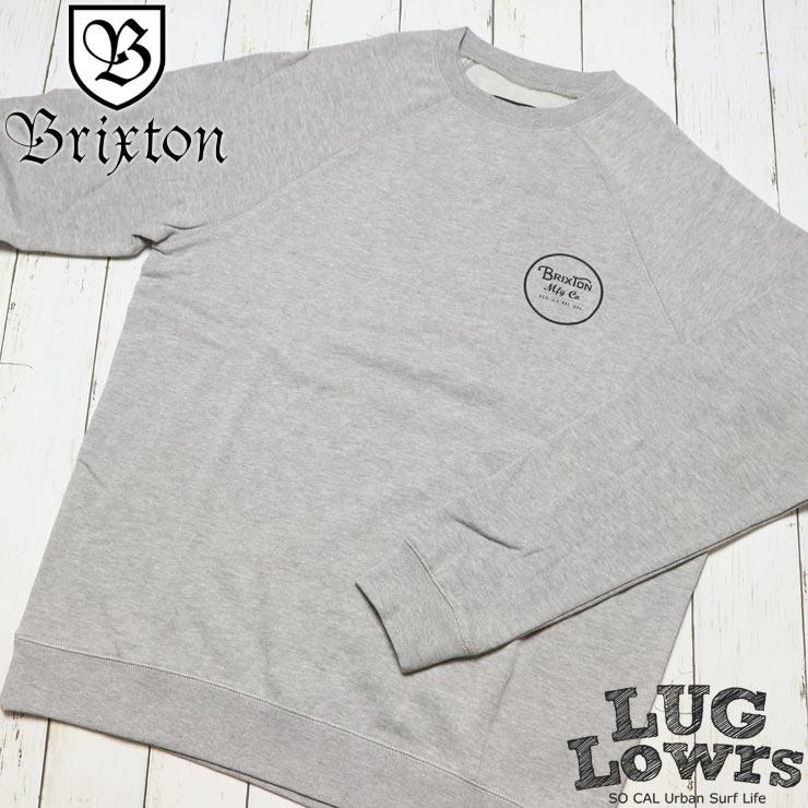 BRIXTON ブリクストン WHEELER CREW スウェットトレーナー 02146 HTGRY