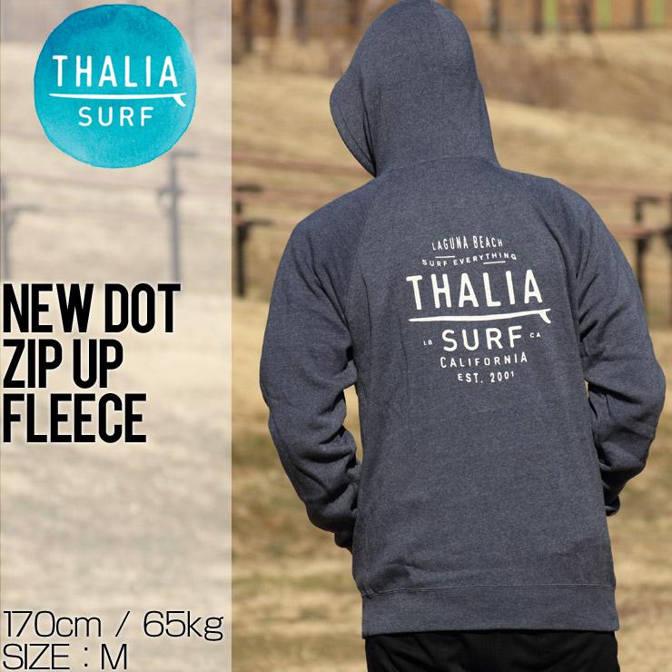 THALIA SURF タリアサーフ NEW DOT ZIP UP FLEECE ジップパーカー P-203