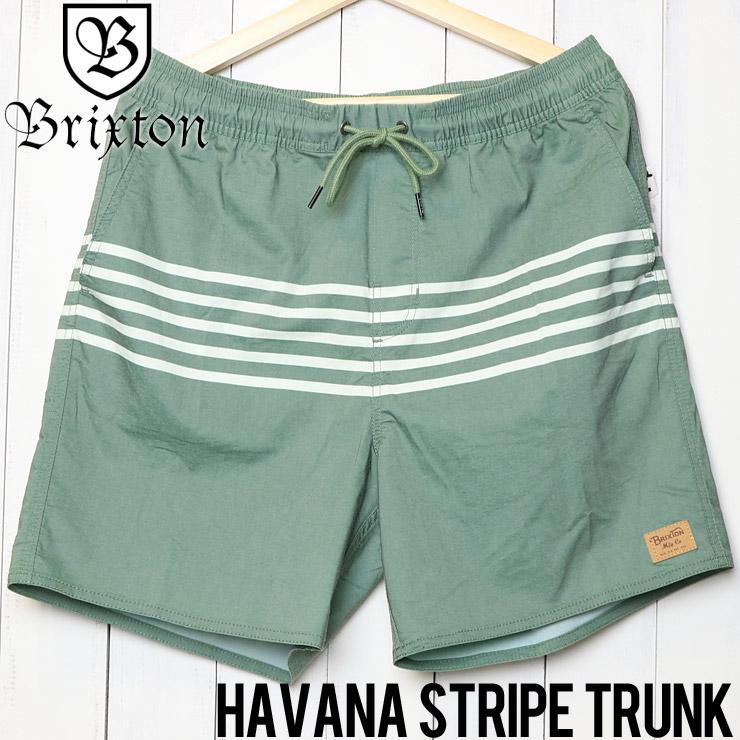 [クリックポスト対応] BRIXTON ブリクストン HAVANA STRIPE TRUNK ハイブリッドショーツ ボードショーツ 04093