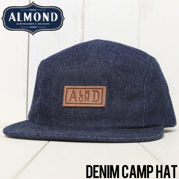 ALMOND SURF アーモンドサーフ DENIM CAMP HAT ストラップバックキャップ