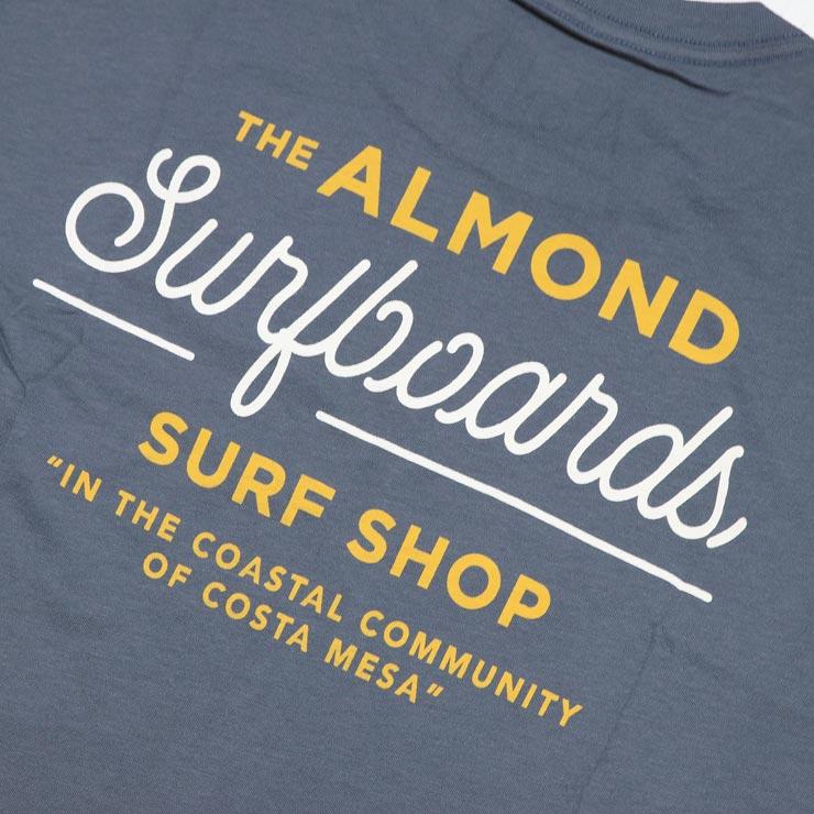 [クリックポスト対応] ALMOND アーモンド SURF SHOP S/S TEE 半袖Tシャツ