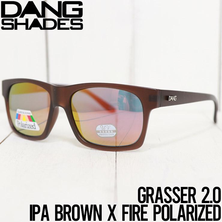 【送料無料】 DANG SHADES ダンシェイディーズ GRASSER 2.0 POLARIZED SUNGLASSES 偏光サングラス IPA BROWN X FIRE POLARIZED