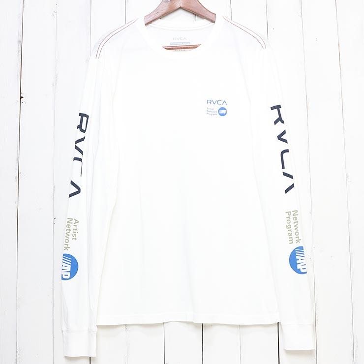 [クリックポスト対応] RVCA ルーカ ANP L/S TEE ロングスリーブTEE M4631RAN WHITE BLUE