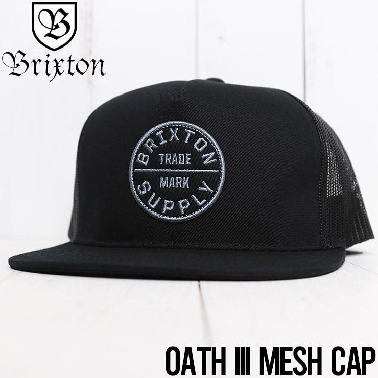【送料無料】 BRIXTON ブリクストン BRIXTON OATH III MESH CAP メッシュキャップ 00958 BKBLK