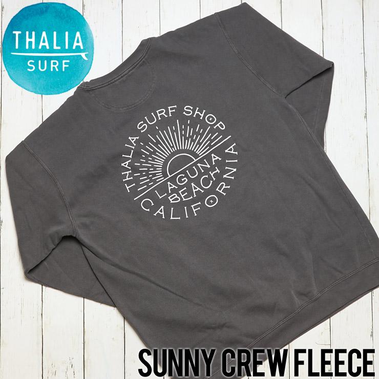 [クリックポスト対応] THALIA SURF タリアサーフ SUNNY CREW FLEECE スウェットトレーナー P-7839