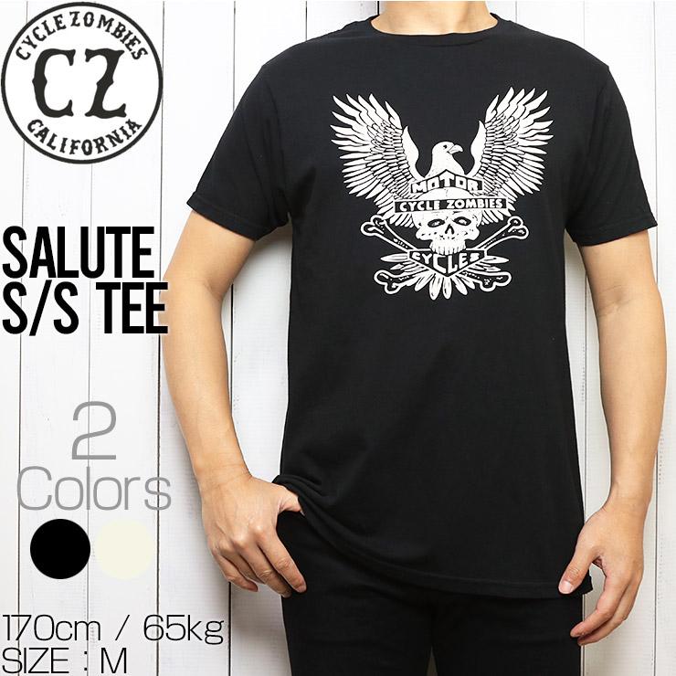 [クリックポスト対応] Cycle Zombies サイクルゾンビーズ SALUTE GARAGE MADE S/S TEE 半袖Tシャツ CZ-GMSS-015