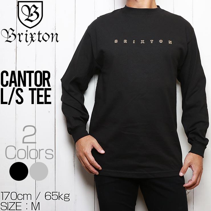 [クリックポスト対応] BRIXTON ブリクストン CANTOR L/S TEE ロングスリーブTEE 16146