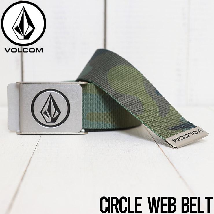 [クリックポスト対応] VOLCOM ボルコム CIRCLE WEB BELT ガチャベルト D5911594 ARC