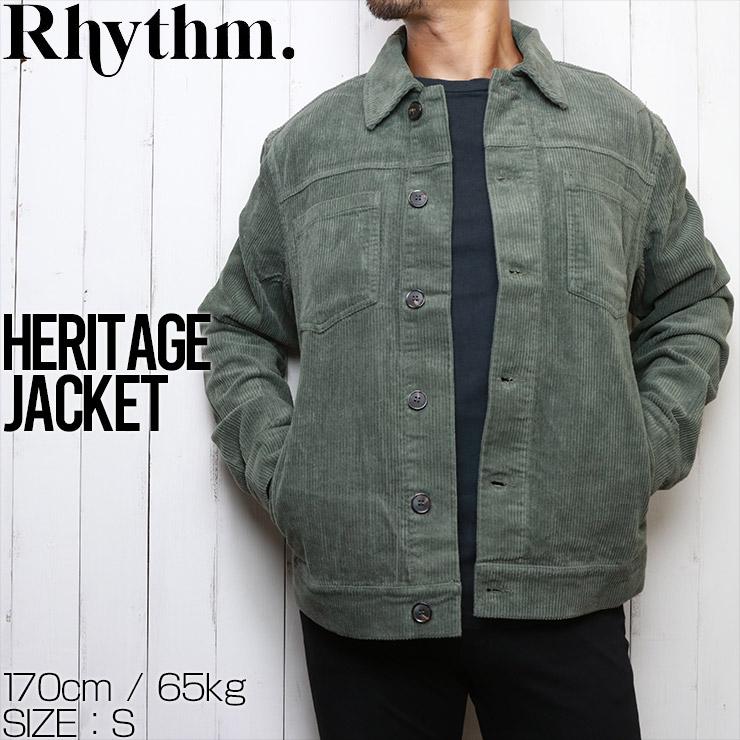 Rhythm リズム HERITAGE JACKET コーデュロイジャケット JUL20M-JK02 TEAL
