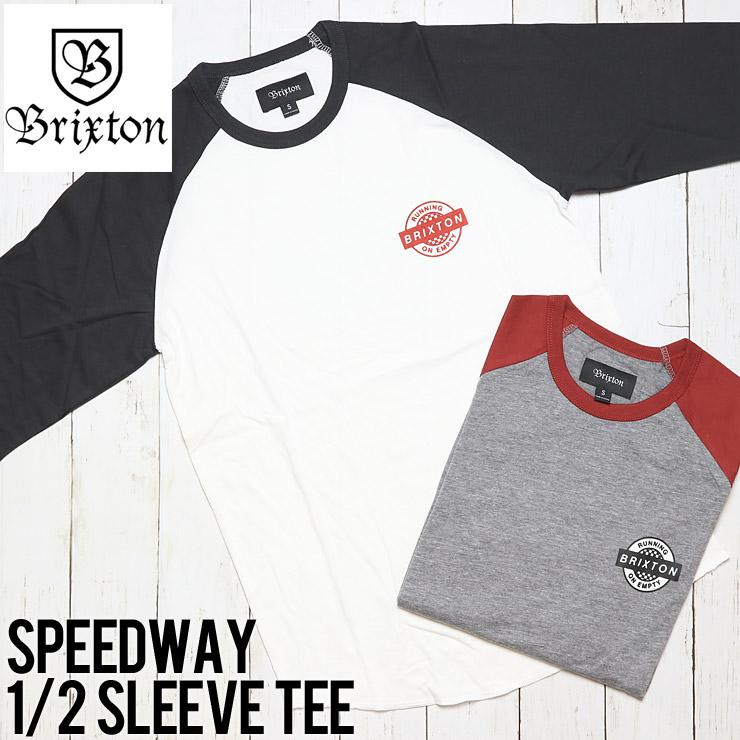 [クリックポスト対応] BRIXTON ブリクストン SPEEDWAY 1/2 SLEEVE TEE 5分袖半袖Tシャツ 02396