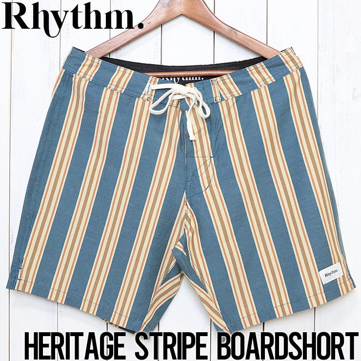 [クリックポスト対応] Rhythm リズム HERITAGE STRIPE TRUNK ボードショーツ OCT19M-TR06