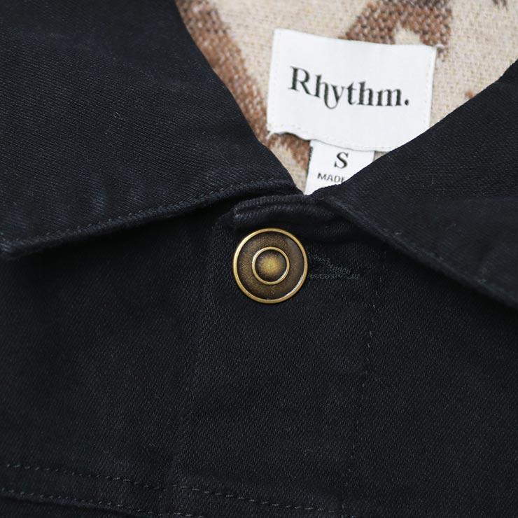 Rhythm リズム TRUCKER JACKET デニムジャケット JUL20M-JK06 VINTAGE BLACK