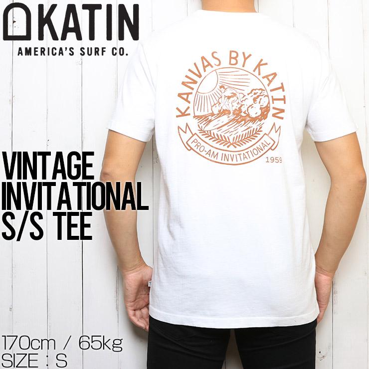 [クリックポスト対応] KATIN ケイティン VINTAGE INVITATIONAL S/S TEE 半袖Tシャツ TSVIN06