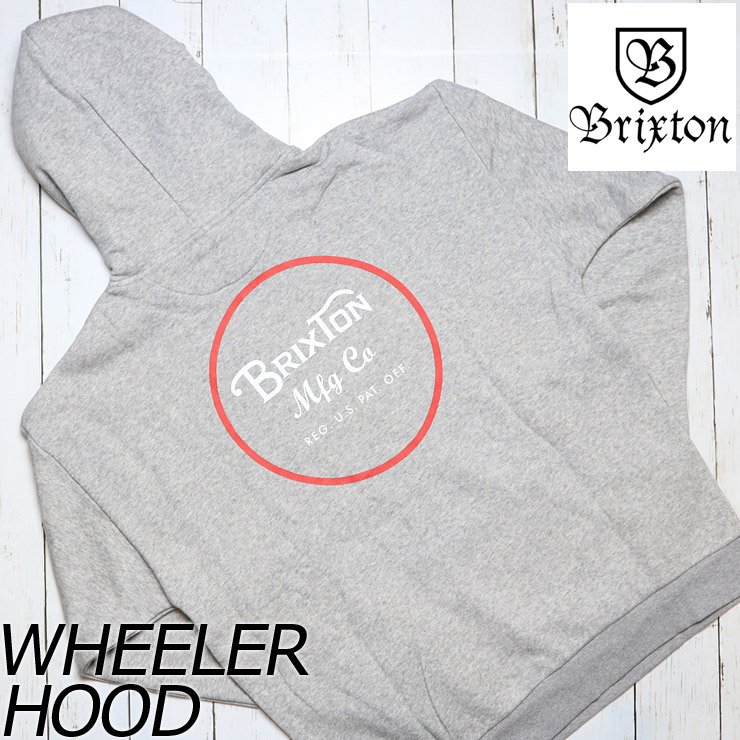 BRIXTON ブリクストン WHEELER HOOD プルオーバーパーカー 02416 HTGRD