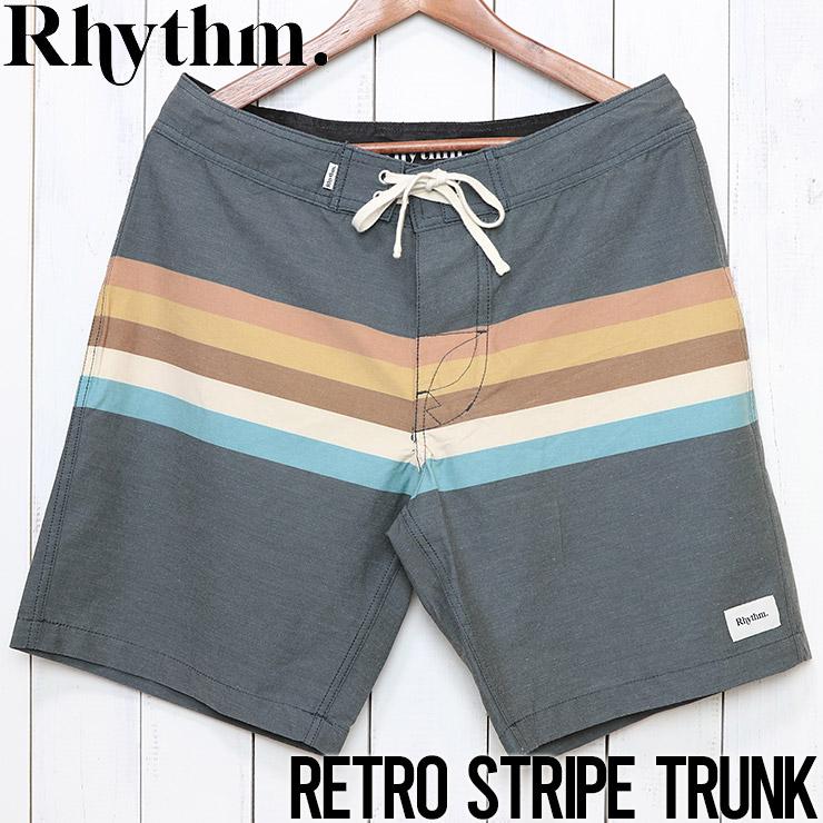 [クリックポスト対応] Rhythm リズム RETRO STRIPE TRUNK ボードショーツ JAN20M-TR05