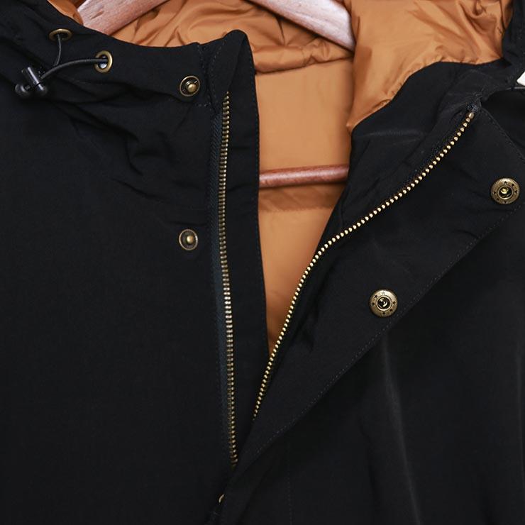 Rhythm リズム HUSK JACKET 中綿入りジャケット CT020M-JK05 BLACK