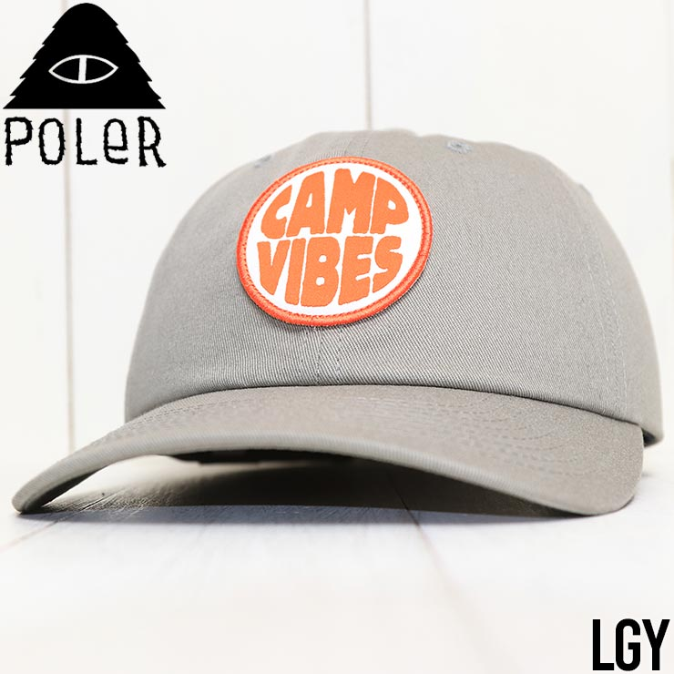 【送料無料】 POLeR ポーラー CAMP VIBES PATCH DAD HAT ストラップバックキャップ 212ACU7202
