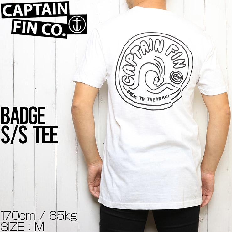 [クリックポスト対応] CAPTAIN FIN キャプテンフィン BADGE S/S TEE 半袖Tシャツ CT202004