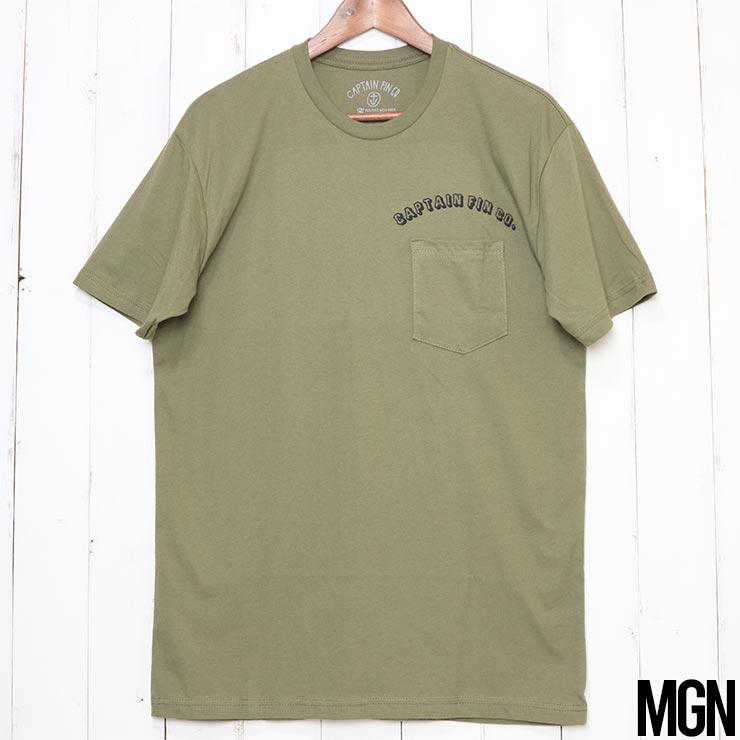 [クリックポスト対応] CAPTAIN FIN キャプテンフィン STADIUM POCKET S/S TEE ポケット付き半袖Tシャツ CT202007