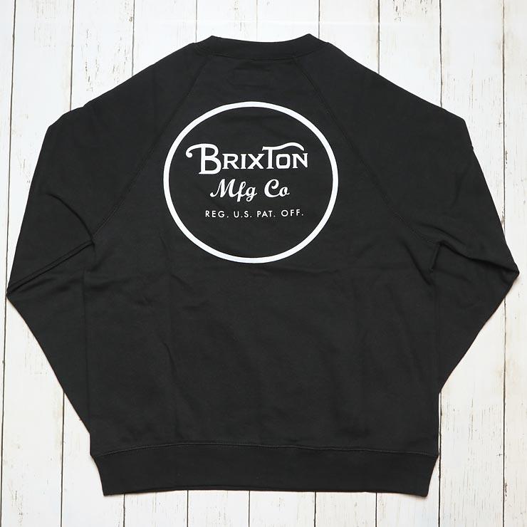 BRIXTON ブリクストン WHEELER CREW スウェットトレーナー 02146 BLACK