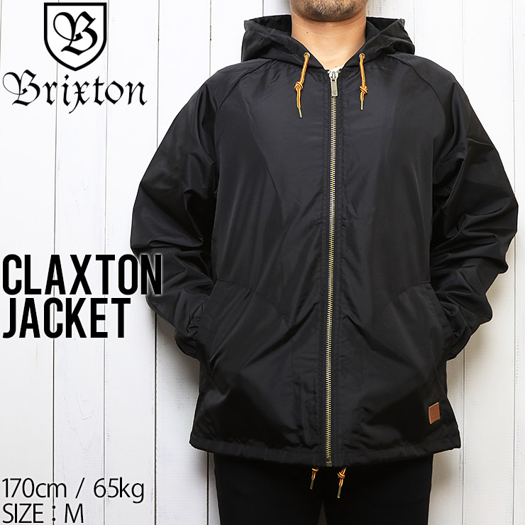 [クリックポスト対応] BRIXTON ブリクストン CLAXTON JACKET ナイロンジャケット 03130 BLACK